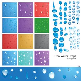 Gotas de água de orvalho Vector - Download Page