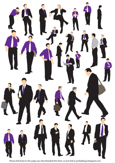 Businessman Vector Silhouettes