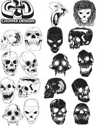 Vector cráneo Set - Descargar página