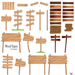 Wood Signs Vector Set - Download Page