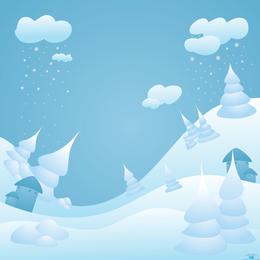 Paisagem de neve de vetor - página de download