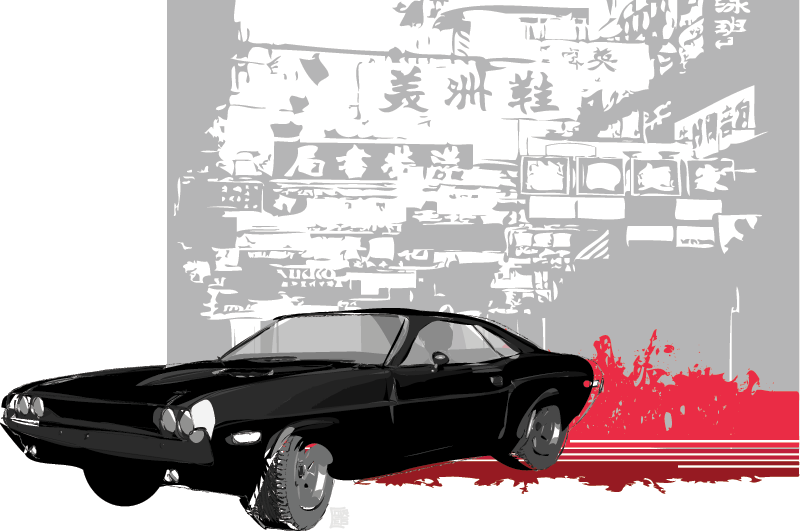 CHINATOWN Vector Graphic