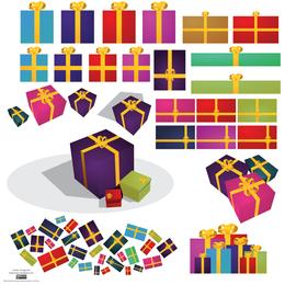 Colección de cajas de regalo.