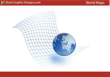 Globo del mundo gráfico vectorial