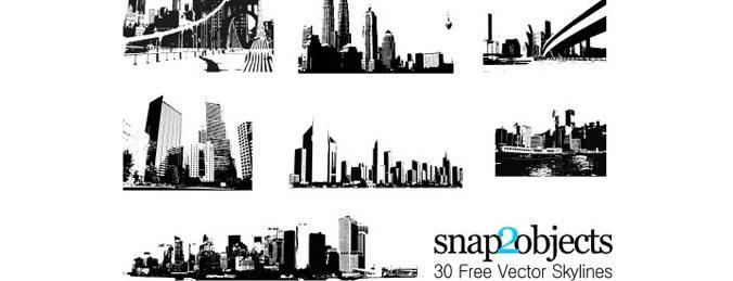 30 skylines de vetor livre