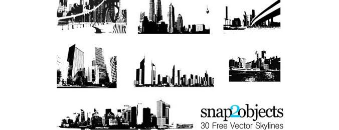 Horizontes 30 vectoriales gratis