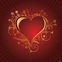 Corazón encantador del vector