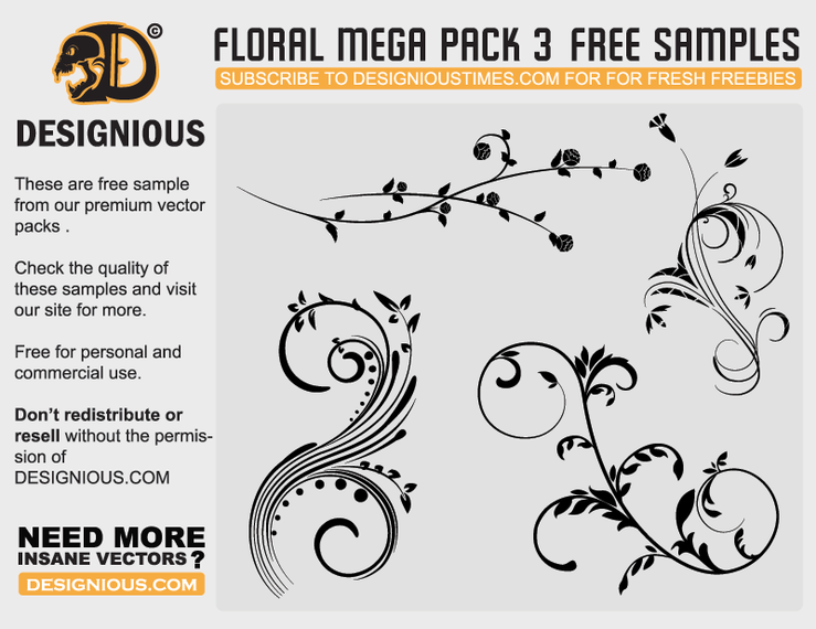 Floral mega pack sample
