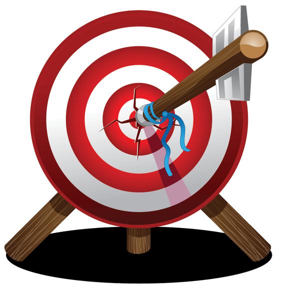 Arrow On Target Bullseye