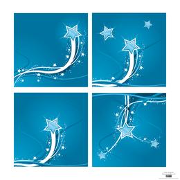 Vetor de estrela swirly