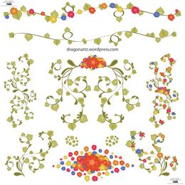 Vector de adorno floral