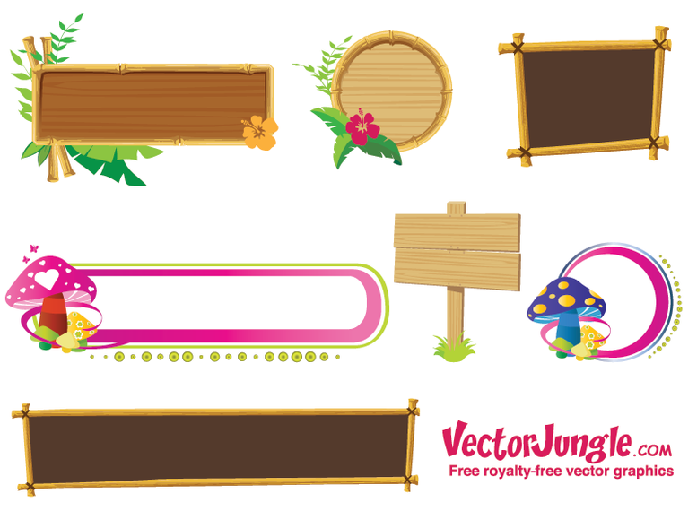 Free Vector Banners and Frames - Vector download