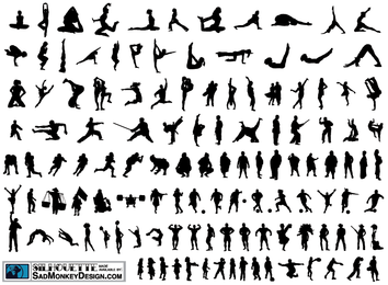 120 Free Vector Silhouettes