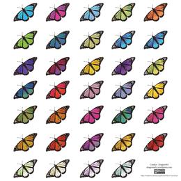 Gráficos vectoriales de mariposa