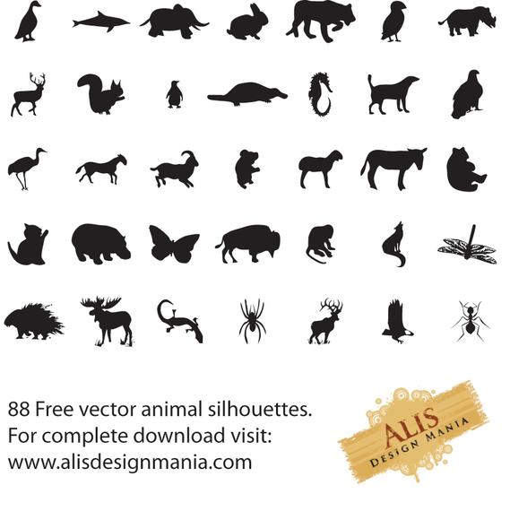 88 Animal Silhouettes
