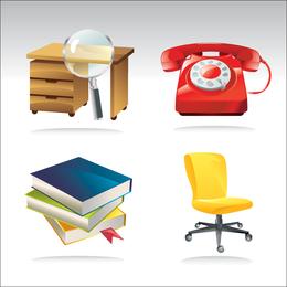 Iconos educativos de la oficina Vecto