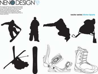 Winter Sports Vector's