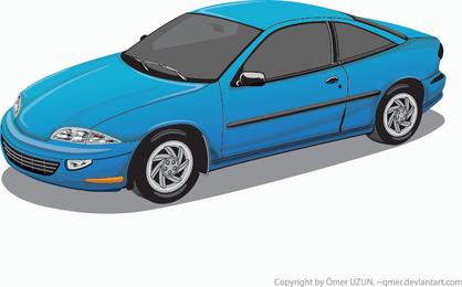 Vetor de carro azul