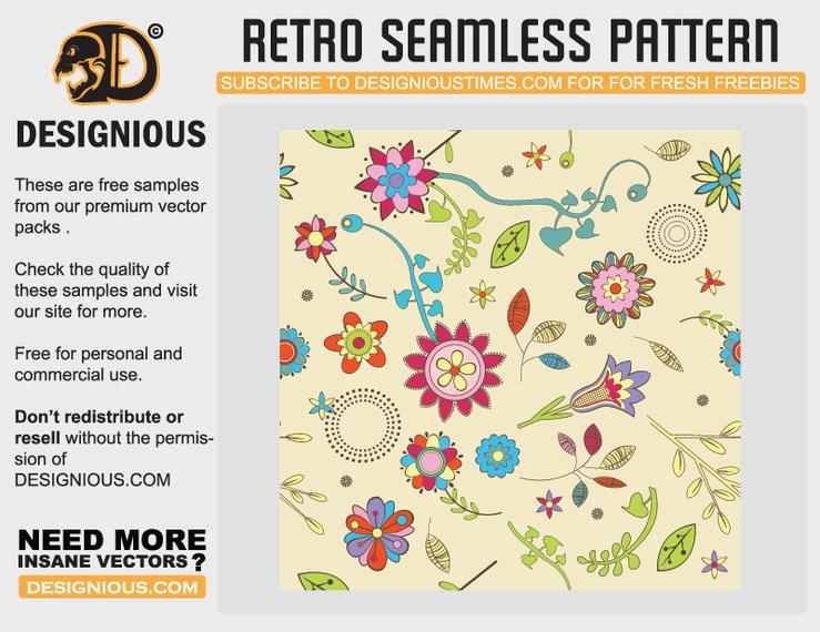 Free retro seamless pattern