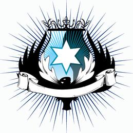 Heraldry badge isolated vector