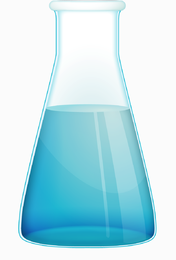 Free Chemistry flask vector icon