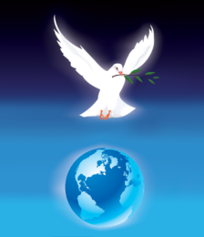 Vector paz pomba