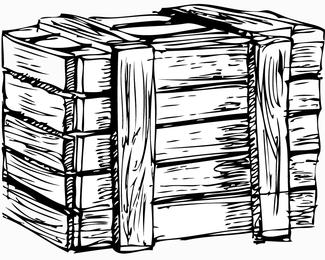 Vetor de caixa de madeira