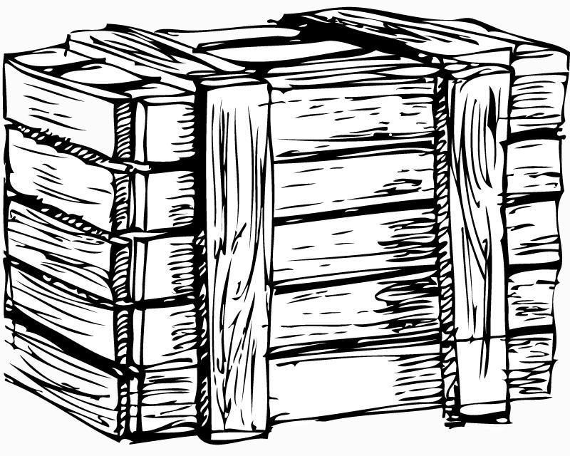 Wooden box Vector - Vector download