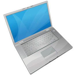 Free Gray laptop Vector