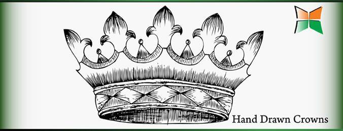 Design de coroa desenhada de mão