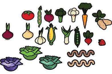 Pacote de vetores de legumes
