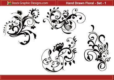 Desenhada Floral 1
