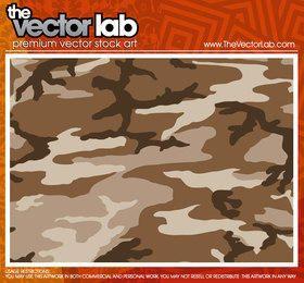 Patrón de camuflaje en tonos marrones.