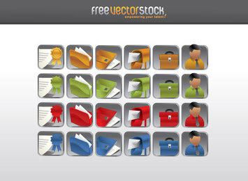Set of 24 file and mail icons