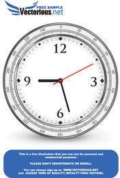 Vector libre icono de reloj