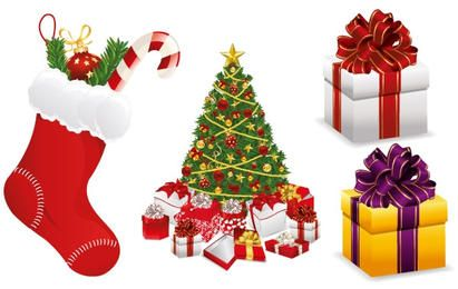 Merry Christmas Design Elements Vector Set