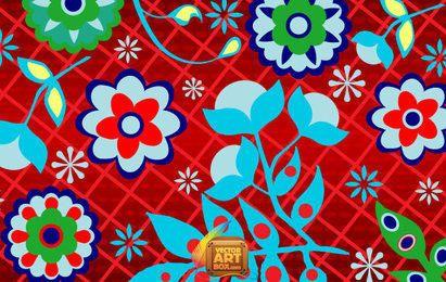 Papel pintado floral ruso