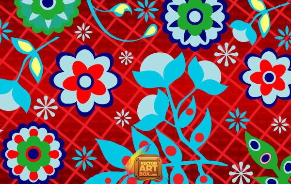 Floral Russian Wallpaper
