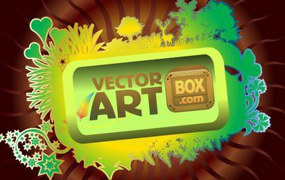 Marco de arte vectorial