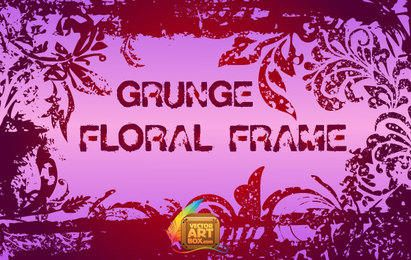 Marco floral de grunge