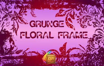 Moldura Floral Grunge