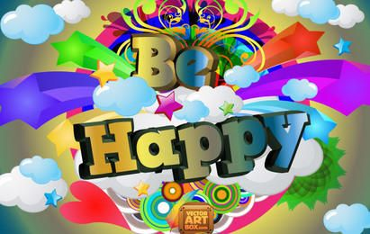 Cheerful Be Happy Vector