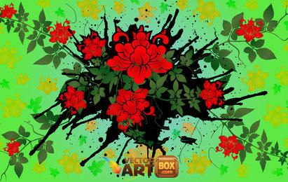 Diseño floral del vector 2