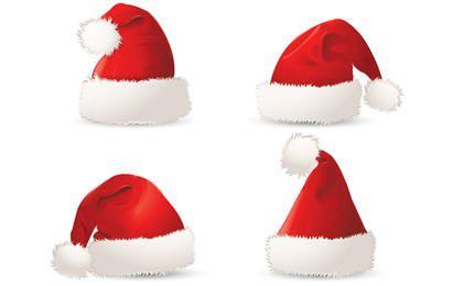 Red Christmas Santa Gorras