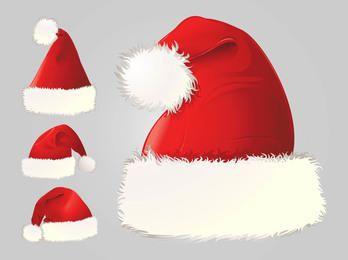 Detaillierte Weihnachtsmann Mütze Pack