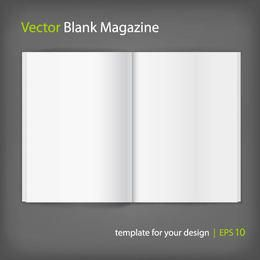 Blank Opened Magazine Layout