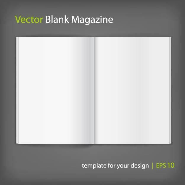Magazine vector graphics to download blank opened magazine layout maxwellsz