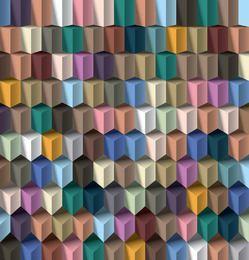 Padrão geométrico 3D cúbico abstrato