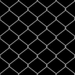 Metallic Wire Linked Fence Background