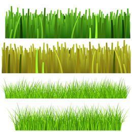 Conjunto de plantas de hierba y hierba
